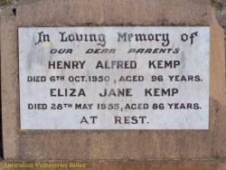 Taken at the Mitchell Cemetary, Mitchell, Queensland, Australia and sourced from ACI - Henry & Eliza Kemp.